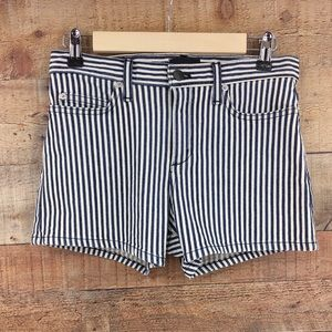 Theory Women's Mikee Stripe Short Size 24